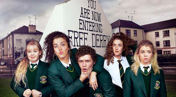 The main cast of the new Channel 4 hit show Derry Girls