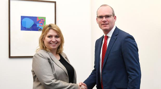 Northern Ireland Secretary Karen Bradley and Irish foreign affairs minister Simon Coveney (Stefan Rousseau/PA)