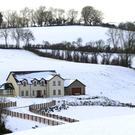 The countryside near Omagh is blanketed in snow