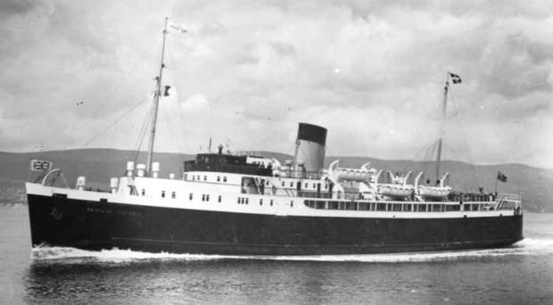 The Princess Victoria which sank on January 31, 1953