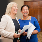 Sinn Fein are expected to be led by Mary Lou McDonald (right), with Michelle O'Neill bidding to become her deputy