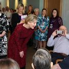The Countess of Wessex meets staff, patients and Darcy the therapy dog as she officially opens the new NI Hospice facility