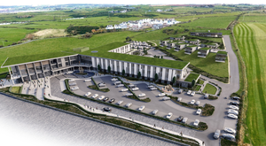 An artist's impression of how the Merrow Hotel complex will look once completed