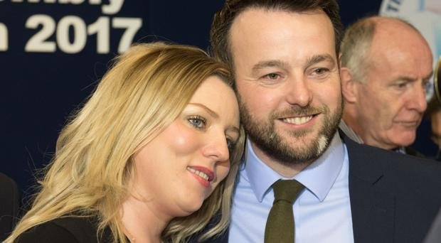 Colum Eastwood with his wife Rachael