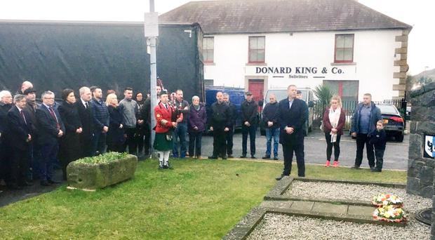 Mary Lou McDonald at the republican commemoration in Castlewellan