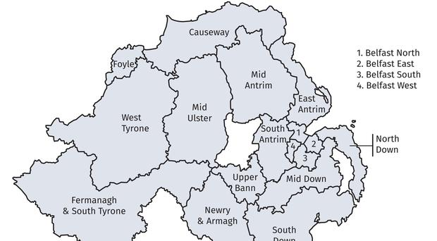 Map Of North And South Ireland.Boundary Commission Stresses Impartiality Over Proposed Ni Electoral