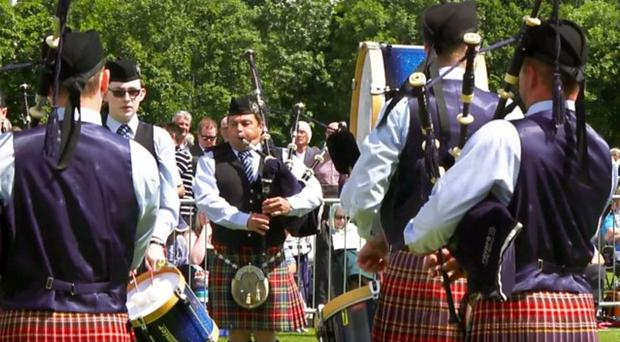 Pipe bands are popular across Northern Ireland