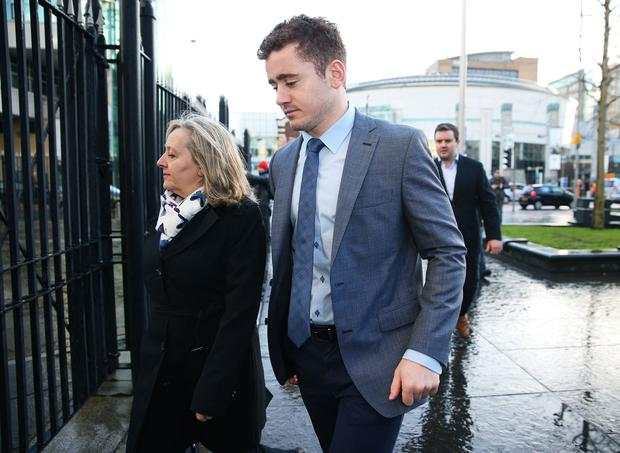 Paddy Jackson arrives at Belfast Crown Court (Brian Lawless/PA)