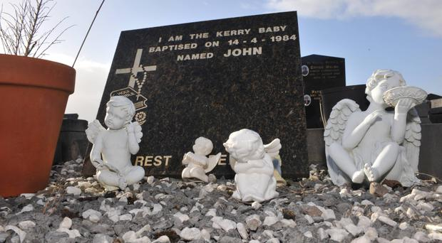 'John', The Kerry Baby, in Cahersiveen Cemetary in County Kerry.