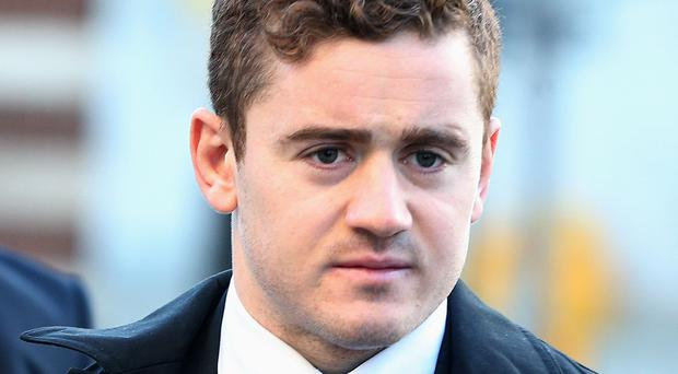 Ireland and Ulster rugby player Paddy Jackson arrives at Belfast Crown Court (Brian Lawless/PA)