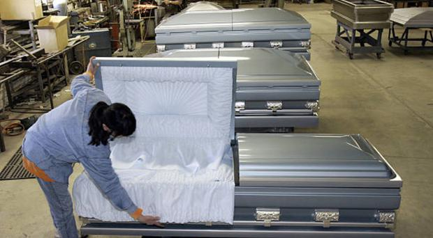 'Out-sized' or 'specialist' coffins are becoming increasingly common in Northern Ireland
