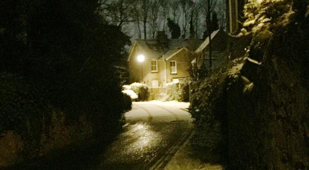 The scene in West Malling, near Tonbridge in Kent, after overnight snowfall (Richard Woodward/PA)