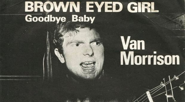 The single cover for Van Morrison's Brown Eyed Girl when it was released