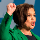 Mary Lou McDonald speaks at her party conference