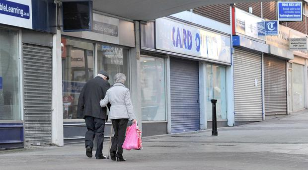 Vacant shops in Northern Ireland