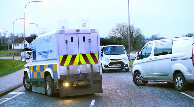 Police at the scene of an incident on on North Circular Road, Lurgan.