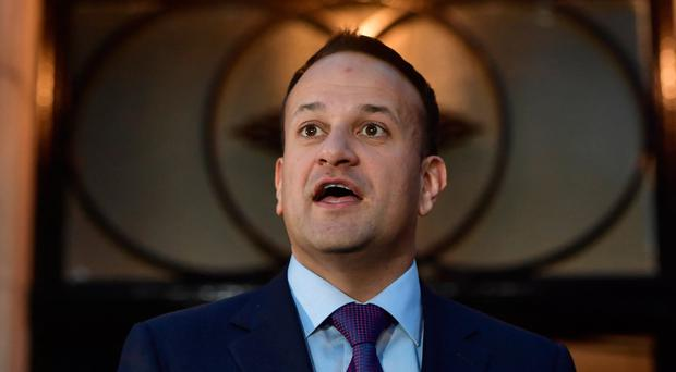 Mr Varadkar speaks to media after meeting