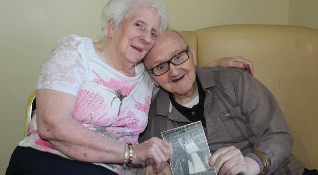 Dorothy and Danny McBride, who will celebrate their 60th wedding anniversary in April