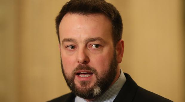 SDLP leader Colum Eastwood was among those expressing frustration (Niall Carson/PA)