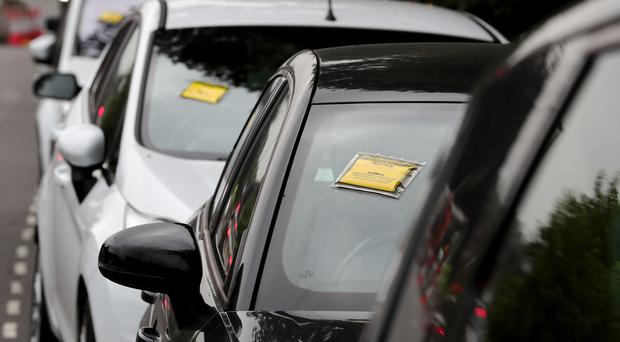 Over 150,000 parking fines were issued last year in Northern Ireland, figures show. (Alexander Britton/PA)