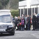 Mourners at Lisburn Christian Fellowship for the funeral of Heather Neill