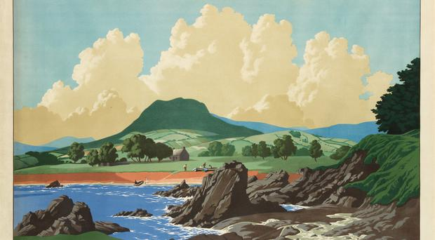 "The 37"" x 48"" poster promoting Northern Ireland during World War Two"