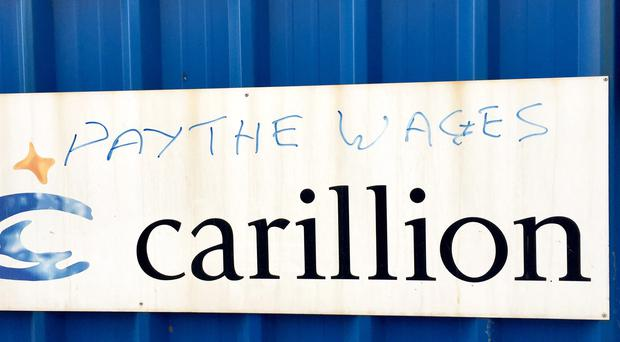Graffiti at a Carillion site (Pat Hurst/PA)