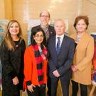 Dr Jenny Elliott, Arts Care, Nisha Tandon, chief Executive, ArtsEkta, Conor Shileds, Community Arts Partnership, Bill Woolsey, MD of Beannchor and Roisin McDonagh, Chief Exceutive,Arts Council Northern Ireland.
