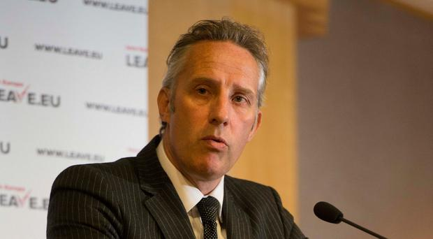Row: Ian Paisley argued with Conall McDevitt