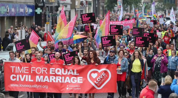 Belfast same-sex marriage rally