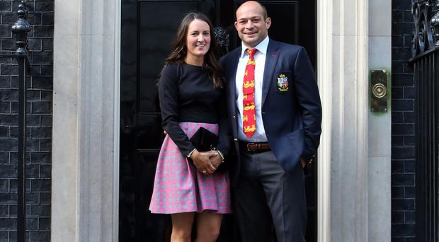 Rugby star Rory Best and his wife Jodie