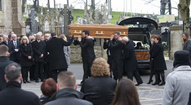 The funeral of Eugene Boyle takes place at St Patrick's Church in Dungiven