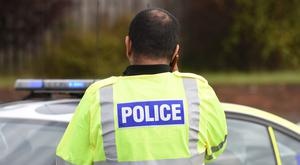 Police said items from the vehicle were seized and follow-up searches took place in the Lurgan area on Thursday (Joe Giddens/PA)