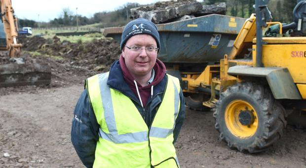 Barry McQuaid, who was killed in a workplace accident, pictured at another building site