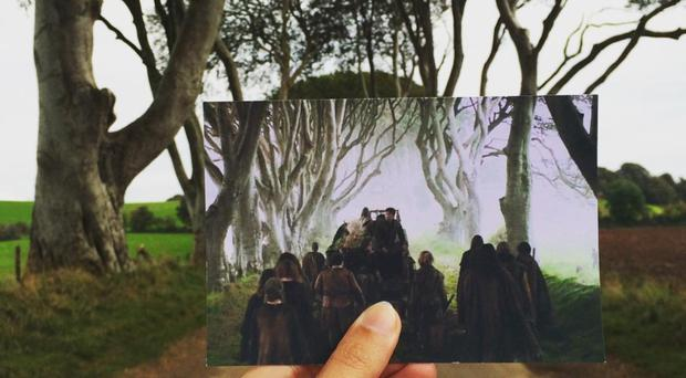 Andrea David matches up a Game of Thrones scene at the Dark Hedges