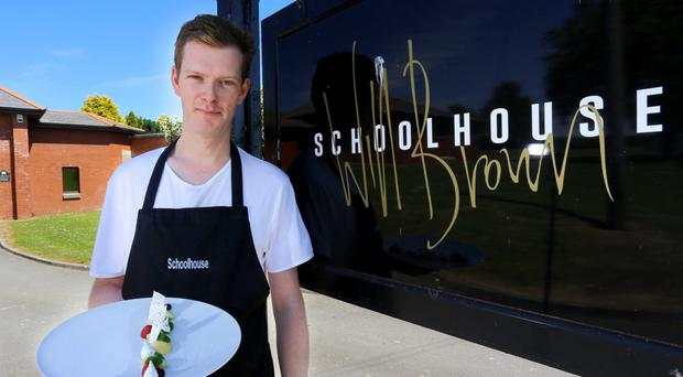 The Old Schoolhouse Inn, Comber. Chef Will Brown at the Old School House Inn, Comber
