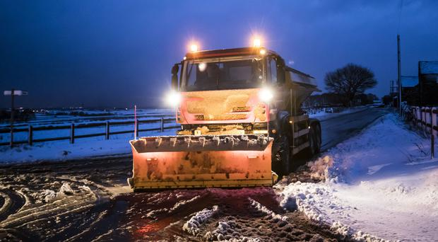Gritters are out in force (Danny Lawson/PA)