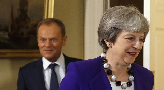 Tusk warning to May on Brexit trade deal (Frank Augstein/PA)