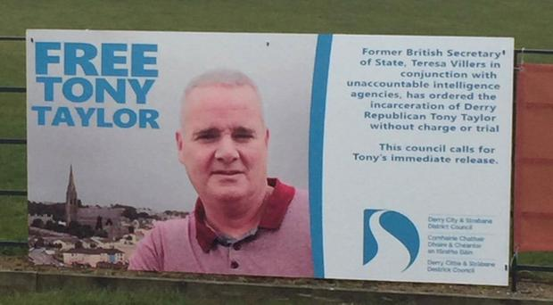 A number of posters were erected in Derry and Strabane over the weekend