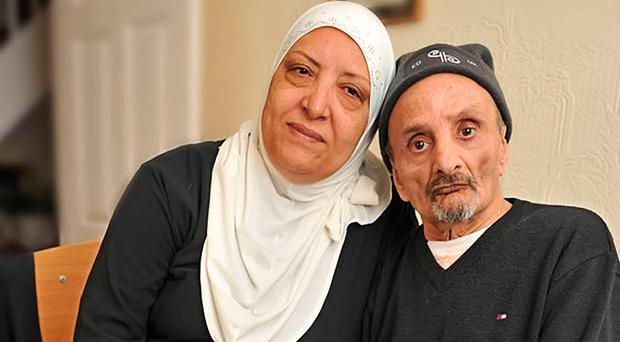 Rajaa's late mother Gemma Berezag (left) with her dad Zaoui who is living with serious disabilities due to the 1996 IRA blast at Canary Wharf