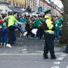 A scene from St Patrick's Day last year in Belfast's Holyland area