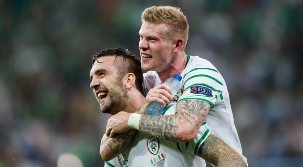 The Republic's Shane Duffy and James McClean