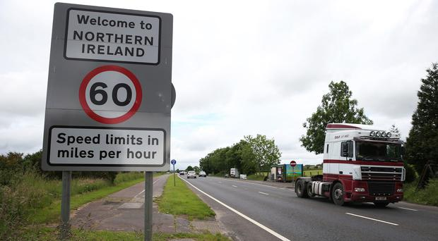 Traffic crossing the border between the Republic of Ireland and Northern Ireland (Brian Lawless/PA)