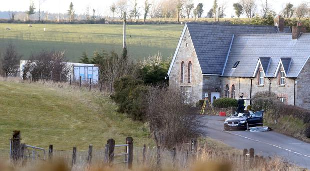 The scene of the crash which took place in Co Fermanagh yesterday