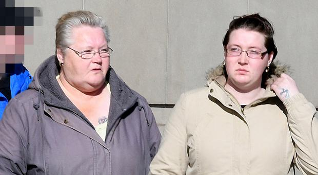 Sandra Mullen and her daughter Julie at Belfast Crown Court