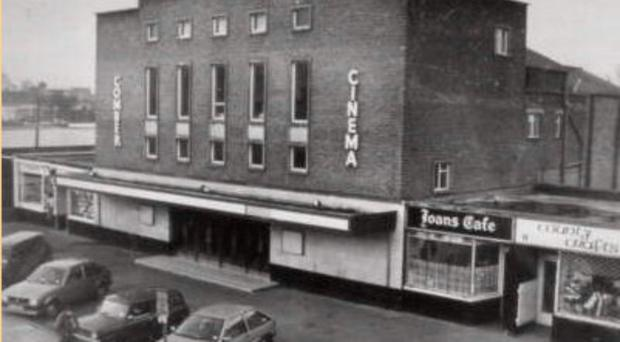 Harry Fraser's chip shop, to the right of the cinema