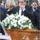 Joe Swail in Belfast for the funeral of his father Billy from St Malachy's Church.