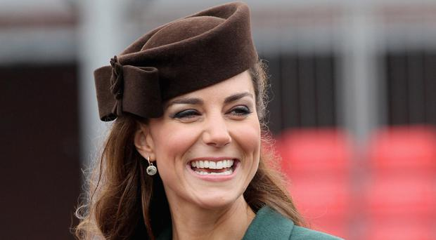Duchess of Cambridge with her shamrock