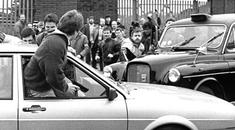 The car carrying the two corporals who were murdered in 1988
