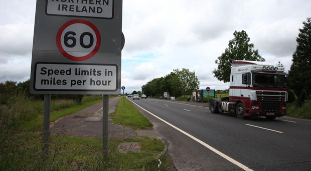 The Irish border in the village of Bridgend, Co Donegal (Brian Lawless/PA)